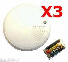 Smoke Alarm/Detector Volume 85dB 9v Battery Supplied *PACK OF 3*