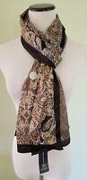 Inc International Concepts black border floral scarf wrap