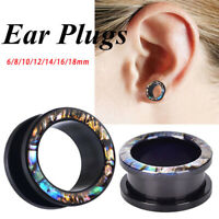 1PC Ear Flesh Tunnels Plugs Double Flare Gauges Tunnels Plugs Earrings Jewe Ik