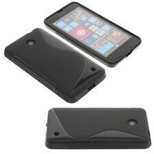 Funda para Nokia Lumia 630 protección de goma de Goma De La Onda De Gadget Negro