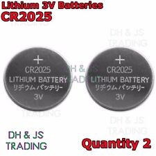 2x CR2025 3V Lithium Coin Battery Watch Car Alarm Key Fob Toy Camera Cell 2 Pack