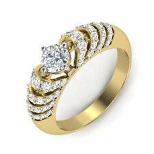 1.18 CT Solitaire Round Brilliant Cut Diamond Engagement Ring 18kt Yellow Gold