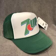 7up Soda Pop Trucker Hat Vintage Style Mesh Back Snapback Cap! Green 2288
