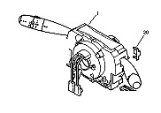 Com 2000 Delphi commodo Peugeot 206 Citroen Berlingo ref 96605668XT 96605668 XT