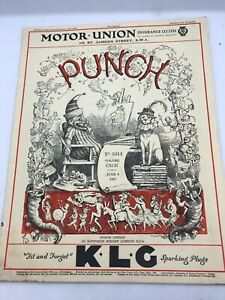 VINTAGE PUNCH MAGAZINE June 9 1937 No. 5014