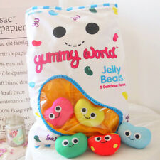 plush toy jelly candy beans storage bag pocket cushion pillow baby birthday gift