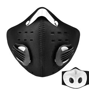 Cycling Face Shield W/Filter Mouth Cover Outdoor Mouth-Muffle Balaclava Dust B9