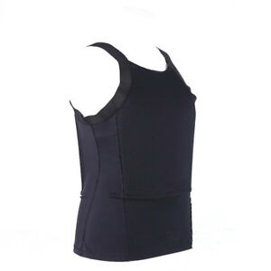 Bulletproof Concealable Body Armor Ultra Thin made with Kevlar T-shirt NIJ IIIA