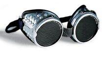 OCCHIALI PROTEZIONE in alluminio LENTI VERDI DINS per saldatura SACIT Mod. ADLER