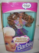 #8020 NRFB Mattel Teen Talk Dulces Palabras Spanish Speaking Barbie Foreign