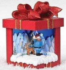 "35975 8."" H Rudolph The Reindeer Motion Display Gift Box. Musical Bumble"