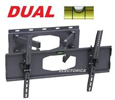 "30-63"" DUAL ARM LCD LED HD TV FULL MOTION WALL MOUNT 55 50 52 48 32 36 42 40 60"