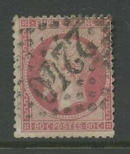 FRANCE 1862 NAPOLEON 80c...NUMERAL 2240 FINE USED