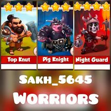 Warriors Full Card Set :- Coin Master ( Top Knut, Pig Knight, Night Guard )