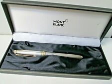 Vintage Mont Blanc Meister Stuck Sterling & 18K Gold Nib Fountain Pen with Box