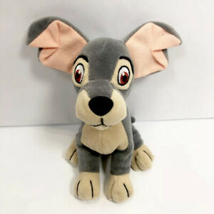 Walt Disney World Lady And The TRAMP 7in Gray Dog Plush Beanie Toy