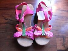 NWT Gymboree Girl's Tea Time Afternoon Wooden Sandals Size 4
