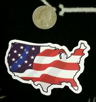 American flag sticker ** united States of America sticker ** USA sticker