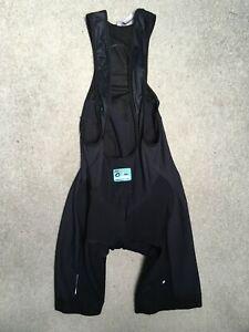 Used Black Assos Fleece Bibshorts T.607 Climarange (Fall) Medium size