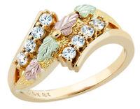 Landstrom's® 10k Black Hills Gold Women's Ring w CZ Size 4 - 10