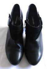 Kaleidoscope Women Ankle Boot Mid Cone Heel Almond Toe Side Zip Black Size UK 8