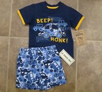 Little Rebels Baby Toddler Boys 2 Piece Shorts Outfit SIze 12 18 Months Set Lot