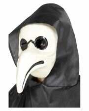 Authentic White Plague Doctor Masquerade Fancy Dress Mask Accessory