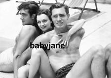 076 JOHN PAYNE ANDREA LEEDS FRANK SHIELDS BROOKE GRANDFATHER BARECHESTED PHOTO