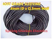 4mm 105T grade vinyle noir gaine - 5 mètres