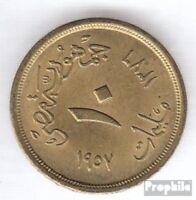 Ägypten KM-Nr. : 381 1958 sehr schön Aluminium-Bronze 1958 10 Milliemes Sphinx