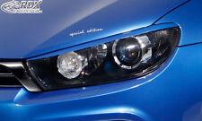 RDX Scheinwerferblenden VW Scirocco 3 Böser Blick Blenden Spoiler Tuning