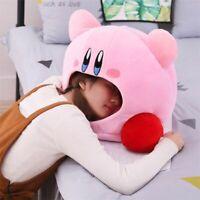 Cartoon Kirby Stuffed Plush Animal Hat Plush Doll Pillow Nap Babys Birthday Toys