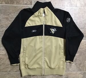 Pittsburgh Penguins NHL REEBOK CCM Center Ice Windbreaker Jacket Womens Sz M NEW