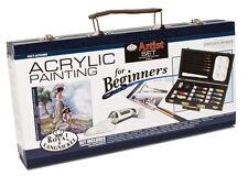 Principiantes pintura de acrílico de viaje Caja Arte conjunto pinturas Herramientas & Libro Guía acry3000