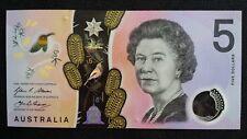 AUSTRALIA $5 Dollars 2016 Stevens/Fraser UNC Banknote