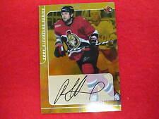 2000 Be A Player Radek Bonk certified autograph  Senators  gold signature #160