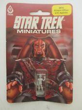 NIB Sealed- STAR TREK MINIATURES (FASA 2615) Klingon Officer with Agonizer 1983