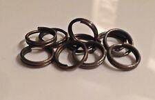 15 -1000 anillos de muelle anillo split para intermitentes colgantes jerkbait swimbait acero oscuro