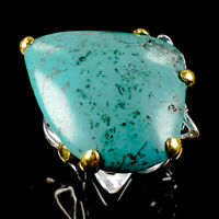 Handmade Natural Turquoise 925 Sterling Silver Ring Size 7.5/R113442