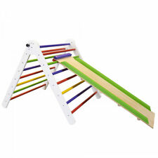 Wooden Foldable Pikler Triangle with Climbing Ladder - Foldable Climber Model #4