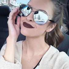HOT Futuristic Flat Top Silver Mirror So Technologic Aviator Sunglasses 10099 IT