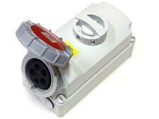 ESR IP67 industriale commutata INTERLOCK Socket 380V - 415V Rosso 3 PIN + Terra 16A