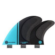 Shapers Fins - Stealth Quad (FCS) - Aqua Blue - Small - Surfboard Fins