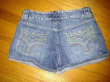 Mudd Jeans Size 1 Great Condition Cute Denim Jean Shorts Contrast Star Stitching
