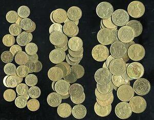 lot 90 monnaies MARIANNE 30 X 20 ct , 30 X 10 ct , 30 X 5ct ( ca )