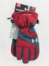 Under Armour UA Mountain Storm 3 Men's Glove Maroon/Gray Size LG NWT - Orig $65