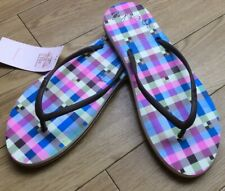O Neill Ladies Flip Flops Dusty Olive With Check Print New Size 3/4 Uk