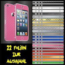 IPHONE 5 FOLIE ROSA CARBON skin bumper cover case tasche hülle pink schutzfolie
