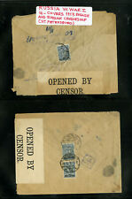 Russia Wwi 4 Covers 1917 English and Russian Censorship
