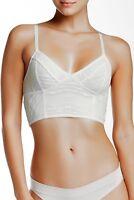 Women's Free People size MEDIUM 36 White Stretch Lace Bra Bralette NEW NWT